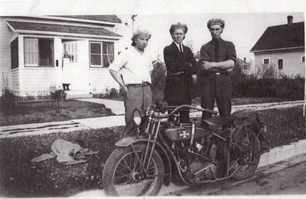 John Ballah (right) with three friends at 11541 97th Street.